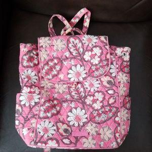 Vera Bradley Pink Paisley Backpack Bookbag retired